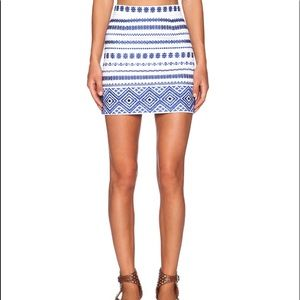Sam Edelman Embroidered Mini Skirt